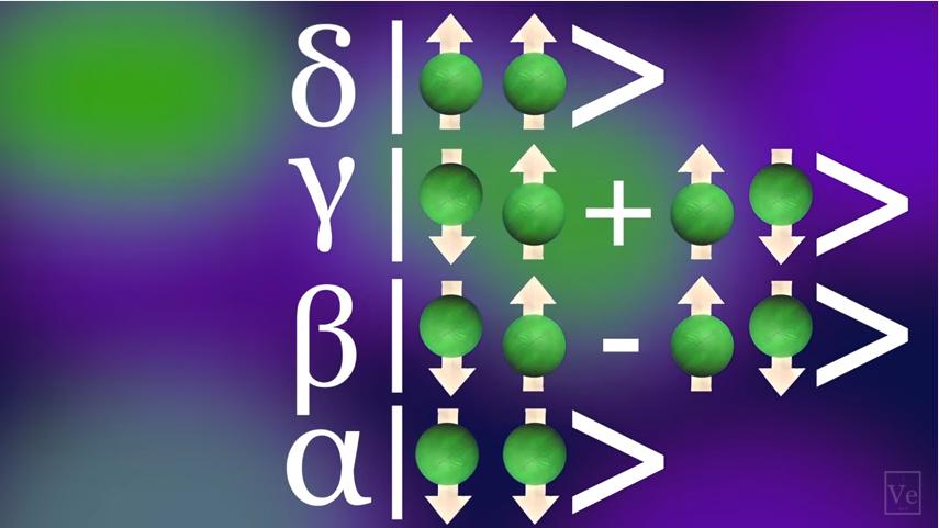 Qubit computer quantistico. Close-up Engineering