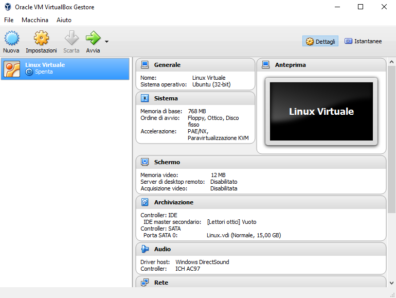 VirtualBox, macchine virtuali. Close-up Engineering