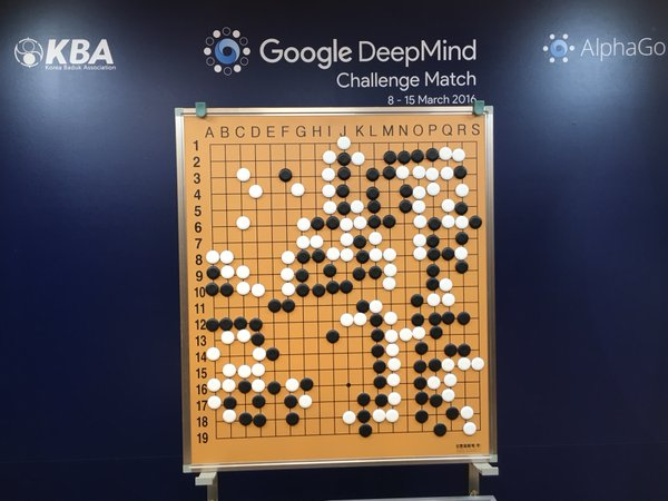 AlphaGo vs Lee Se-dol end board