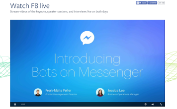 Bot Messenger - F8 Facebook Developer Conference