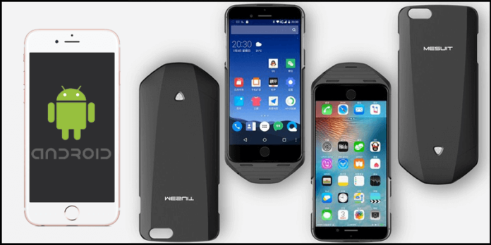 MESUIT La cover per trasformare iPhone in Android