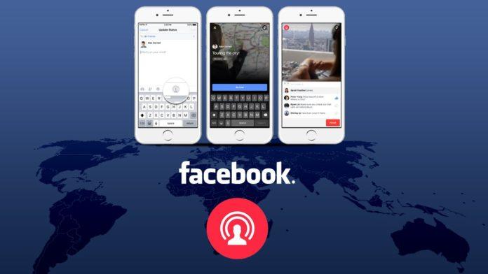 Facebook Live Nuova Funzione condivisione schermo