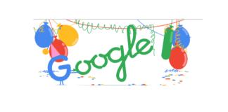 Google 18 anni Doodle