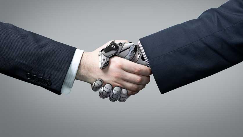 Uomo e robot collaborano
