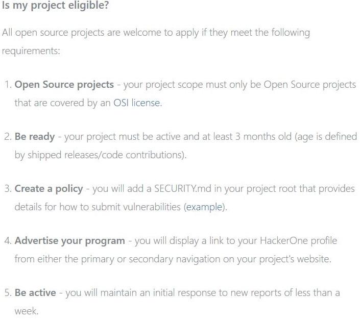 Da Marzo, gli hackers dell'azienda HackerOne, scopriranno GRATIS le falle nella sicurezza del vostro prodotto open-source