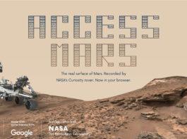 Grazie al progetto Access Mars del NASA JPL, è possibile viaggiare in un tour virtuale, attraverso la superficie marziana, affiancati dal rover Curiosity.