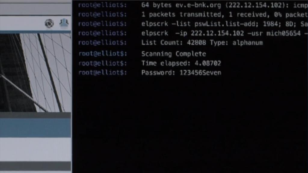 elpscrk, il password cracker di Elliot in azione